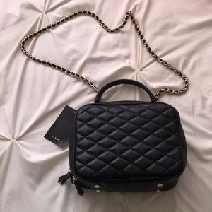 Zara quilted box Crossbody  bag